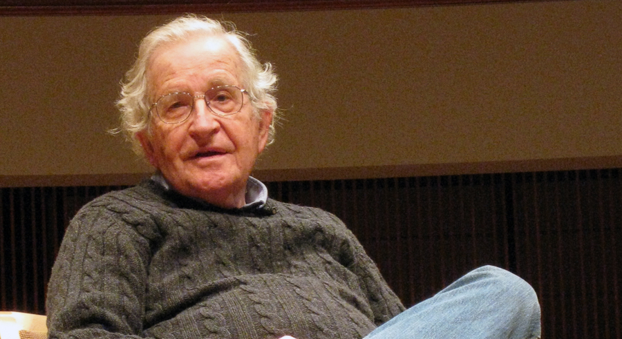 Noam Chomsky discusses foreign policy just ahead of the presidential debate.