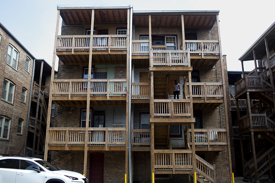 Renovations of Oglesby Manor's back porches were a costly project for the cash-strapped co-op. Some residents are concerned about the quality and safety of the construction.
