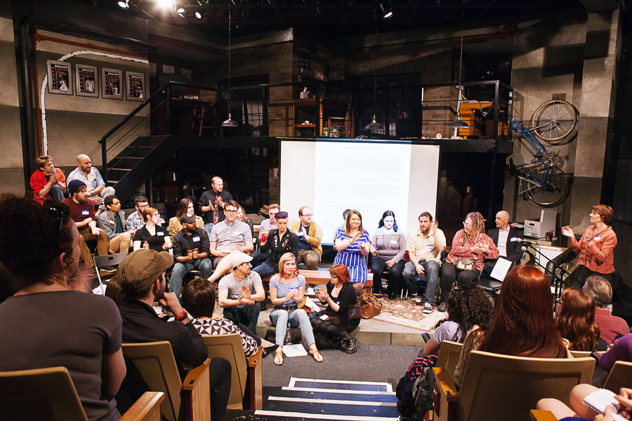 Not in Our House unveiled a draft of its code of conduct for non-Equity theaters in April.