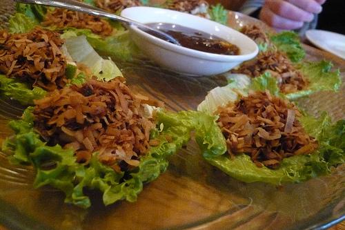One bite salad at Spoon Thai