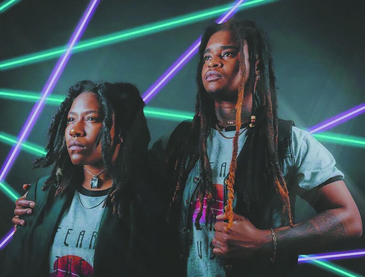 Kai Black and Asha Adisa of the indie-rock band Orisun.