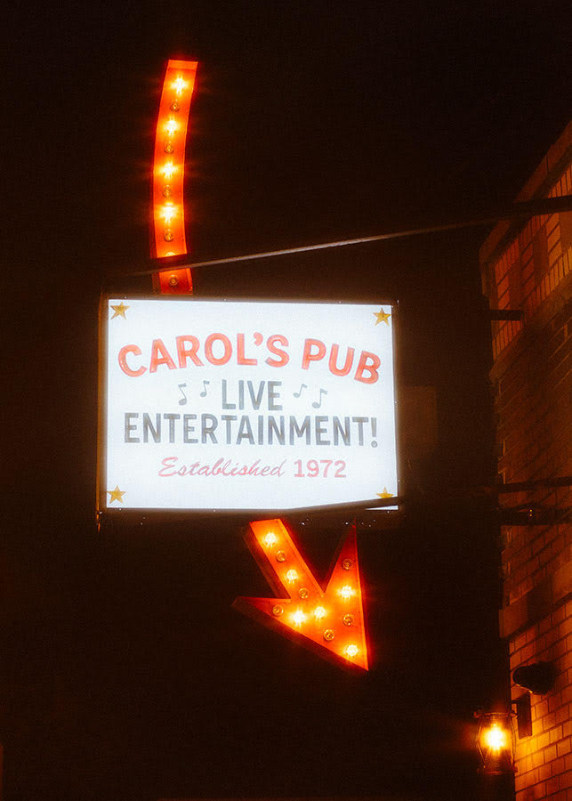 The iconic Carol's sign has been restored.