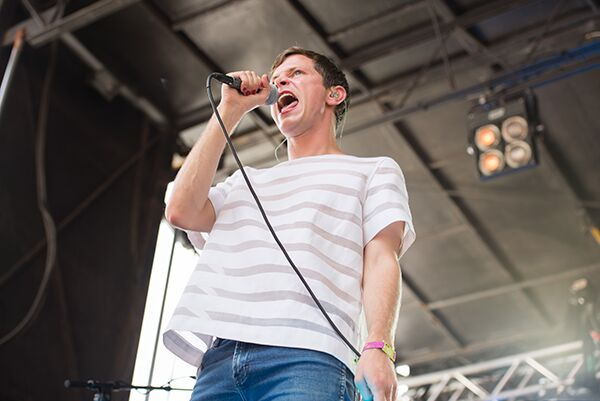 Mike Hadreas, aka Perfume Genius, whose endearing dancing cannot be accurately depicted in this photo.