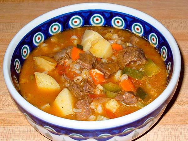 Russian pickle soup