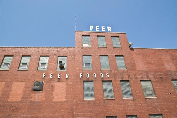 The former Peer Foods factory, now the site of the Plant