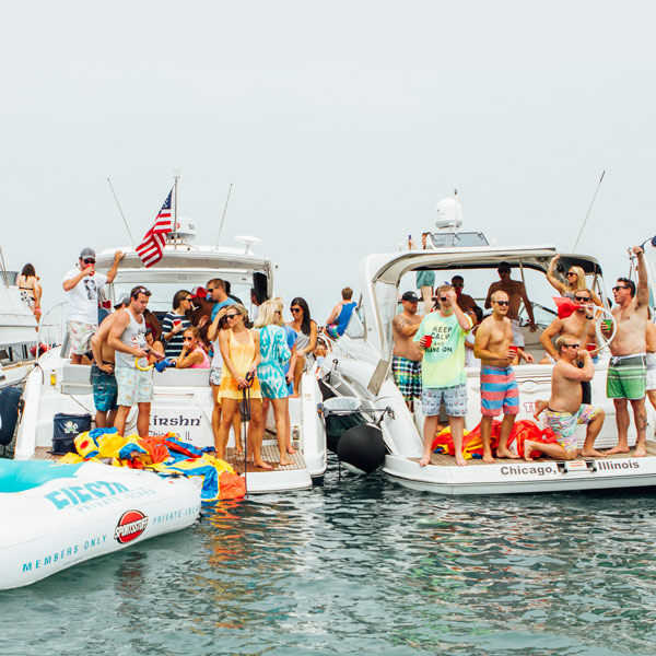 """At the Chicago Scene Boat Party, the largest """"raft up"""" of the year at the Playpen, vessels are packed to capacity with booze and skin-baring party monsters."""