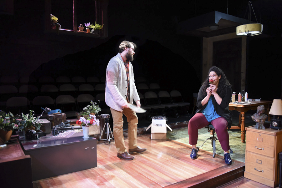 Austin Cook and Bethany Thomas in Porchlight Music Theatre's <i>Marry Me a Little</i>