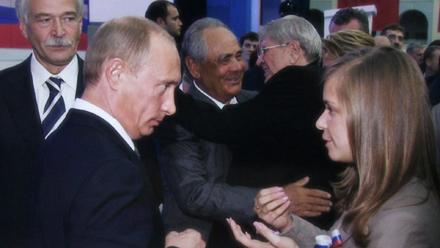 Vladimir Putin, Masha Drakova in Lise Birk Pedersen's documentary Putin's Kiss