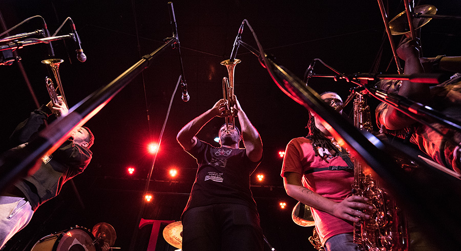 The Rebirth Brass Band plays Sunday at 8:30 PM at Pritzker Pavilion.