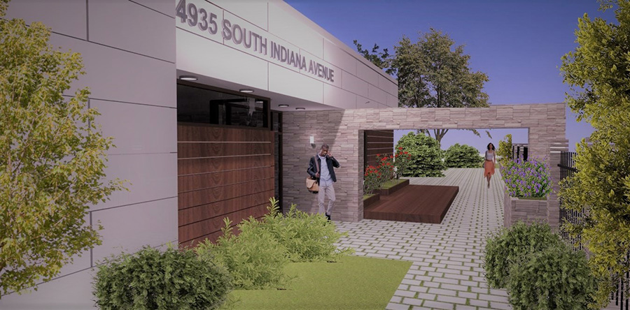 A rendering of the proposed multimedia center
