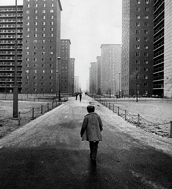 Robert Taylor Homes, 1965. Most of Chicago's housing projects have been demolished, but segregation persists on the south and west sides.