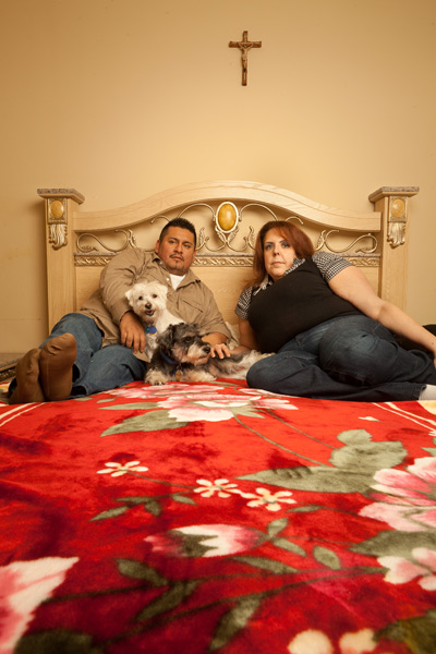 Taina Rodriguez and Hernan Velarde were lucky to be at the beach with their dogs when their apartment caught on fire, which Rodriguez believes was caused by her landlord's attempt to eradicate bedbugs.