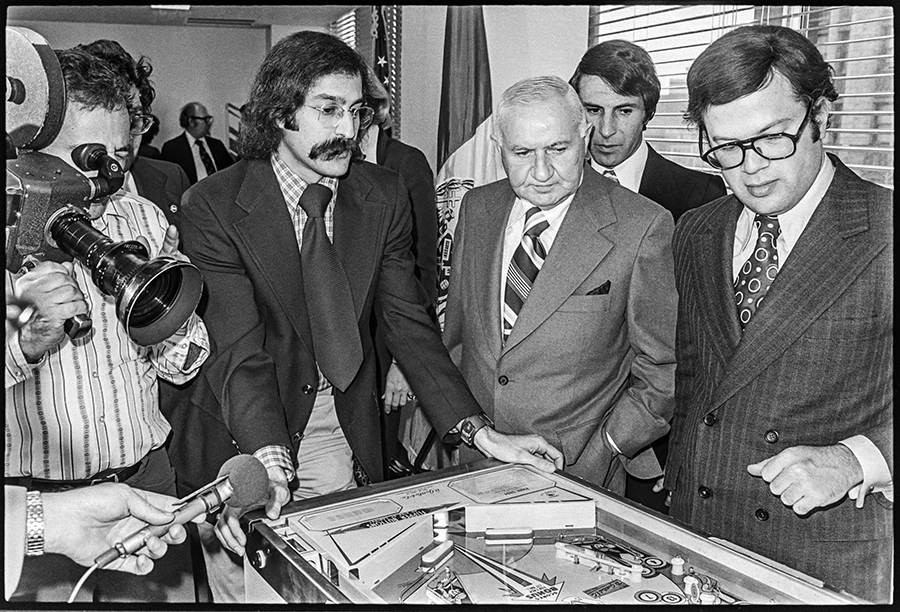 Roger Sharpe proved pinball was a game of skill to the New York City Council in 1976.