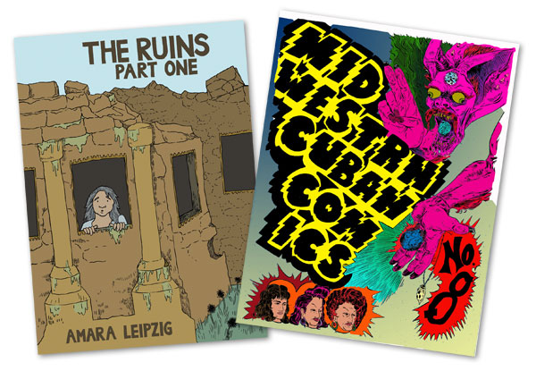 The Ruins by Amara Leipzig and Midwestrn Cuban Comics by Odin Cabal will be on sale at CAKE.