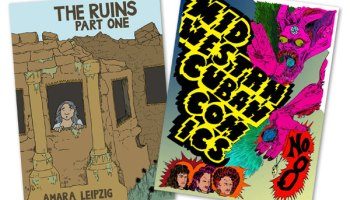 <i>The Ruins</i> by Amara Leipzig and <i>Midwestrn Cuban Comics</i> by Odin Cabal will be on sale at CAKE.