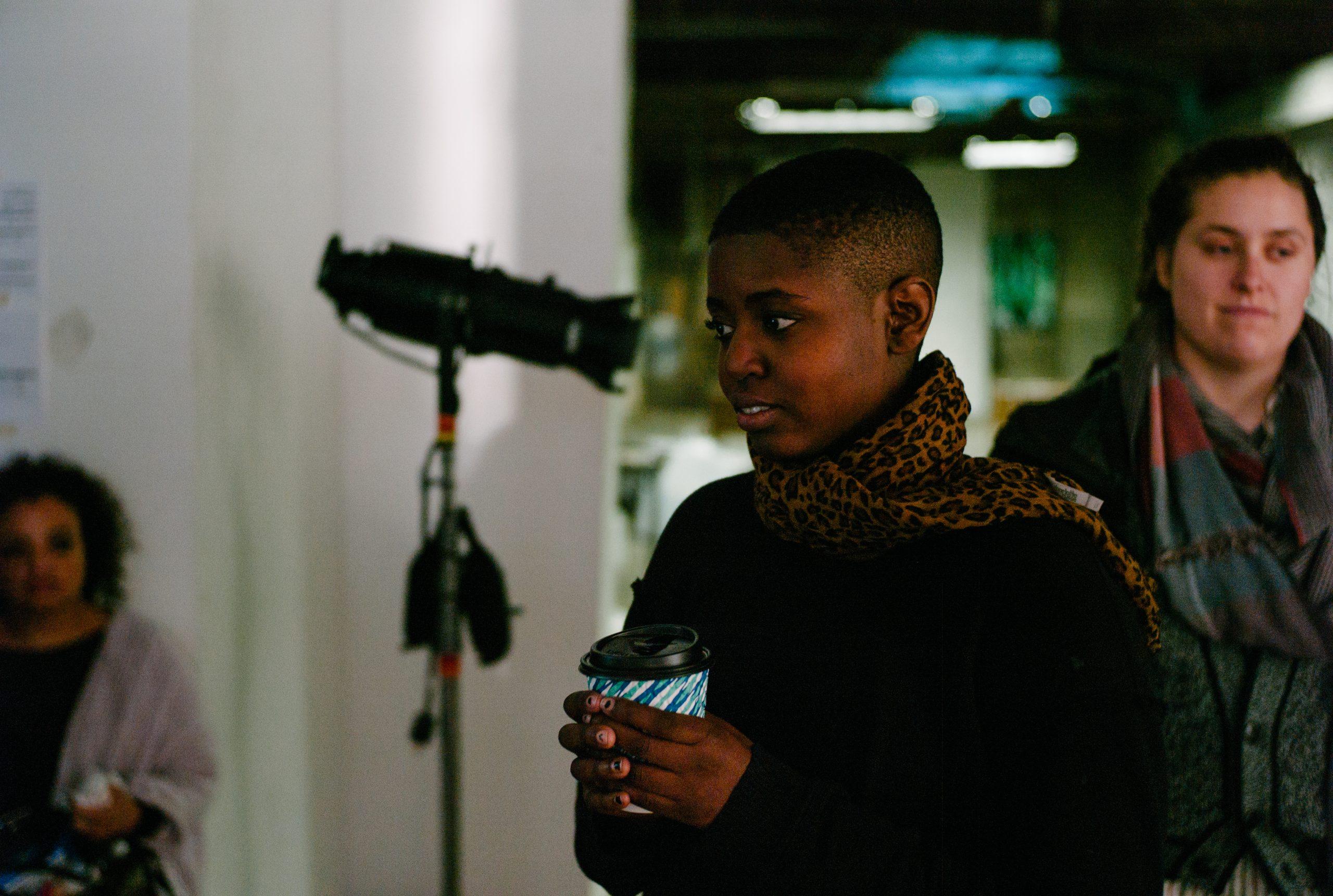Video director Sam Bailey behind the scenes
