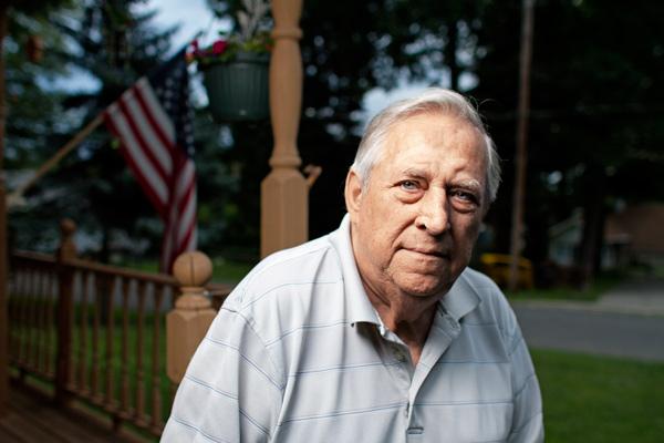 Sam Navarro, outside his Michigan cottage
