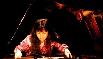 Satoko Fujii plays at the Von Freeman Pavilion.