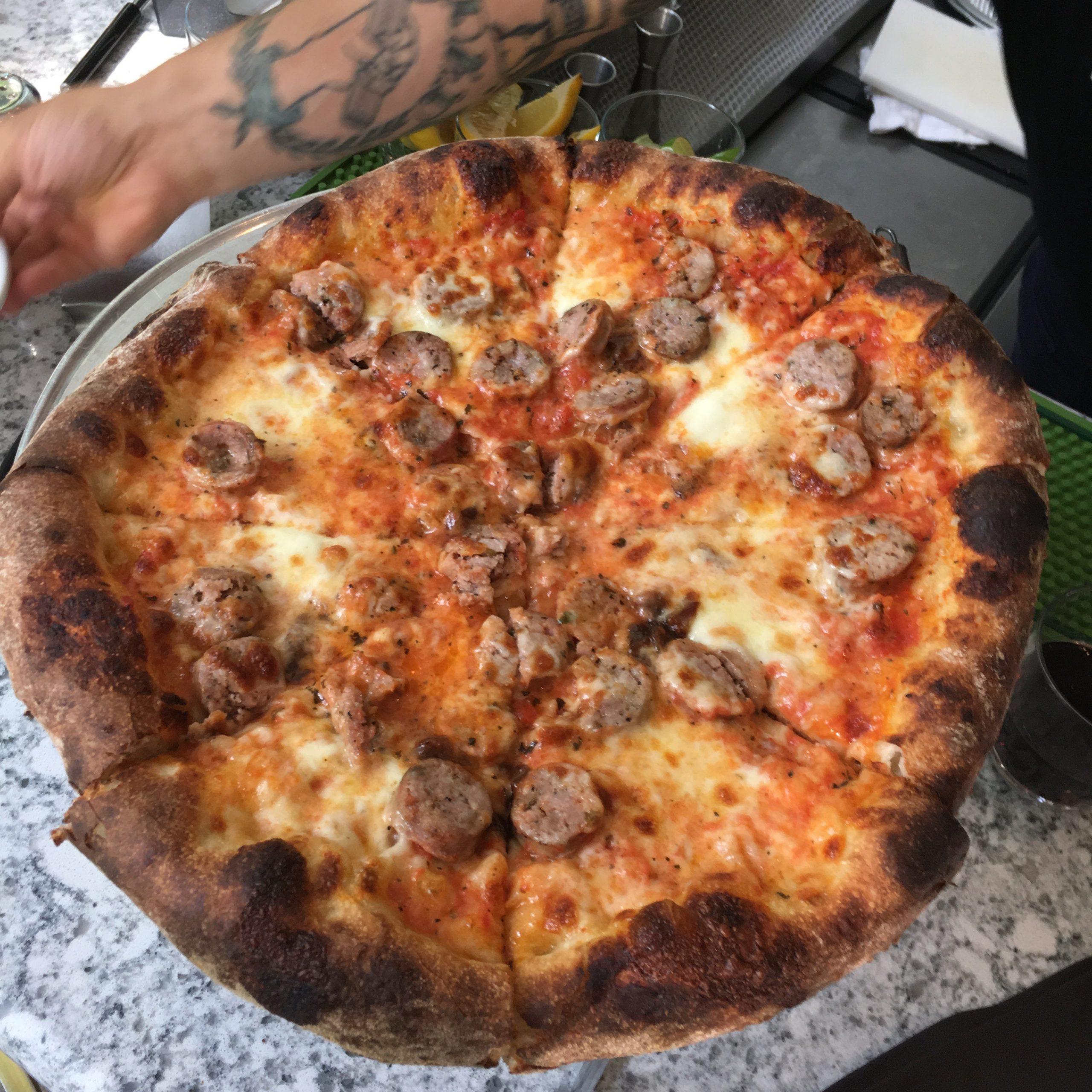 Sausage and onion, Robert's Pizza Company