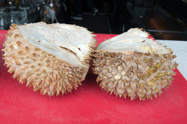 Scofflaw's Danny Shapiro took on the butt-reminiscent durian to create a poopsicle.