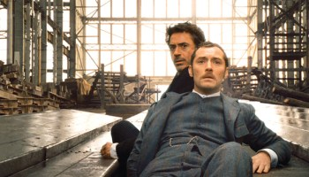 Robert Downey, Jr. and Jude Law in <i>Sherlock Holmes</i>