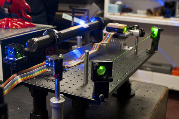 Up-close looks at the guts of Wesly's lasers