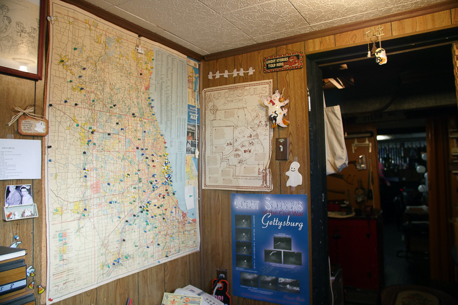 Maps of supposedly haunted locations in the Chicago area