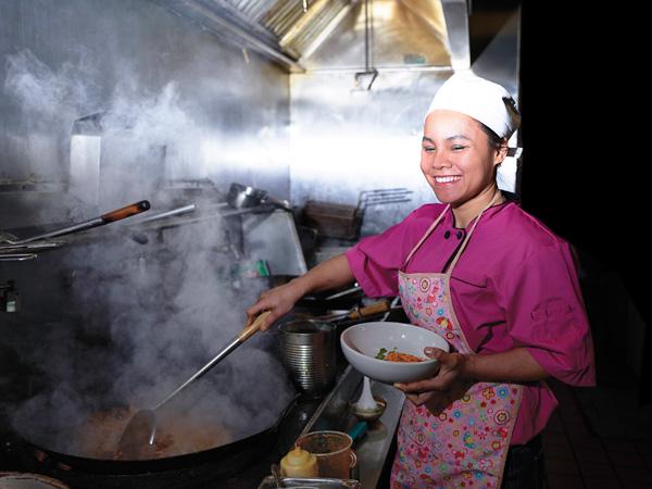 Kaew Saengsom is Thai but grew up speaking Lao.