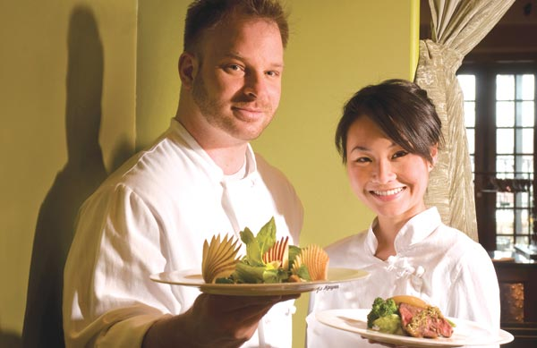Dale Levitski and Sara Nguyen at Sprout