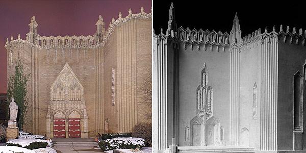 St. Thomas the Apostle Church, model of original proposed entrance of St. Thomas