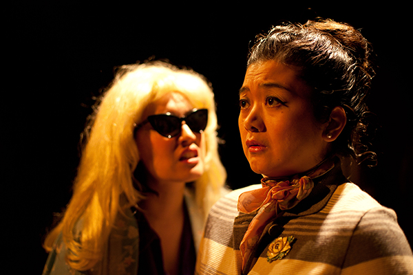 Karissa J. Murrell Myers and Ginger Leopoldo in Prologue Theatre's <i>Tea</i>