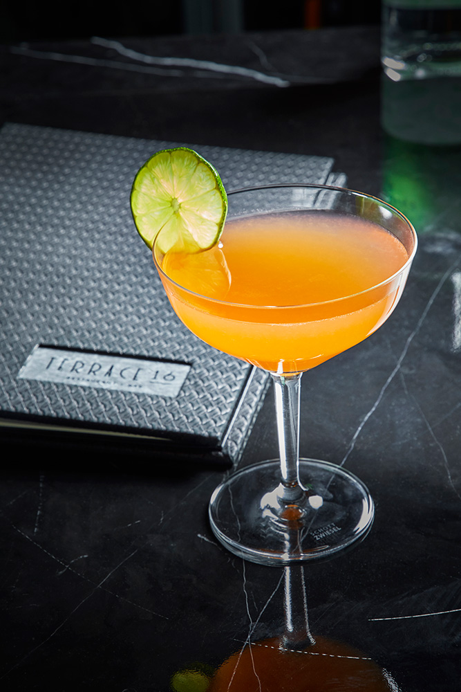 """""""Orange"""" the cocktail, with rum and carrot, orange, and ginger juices"""