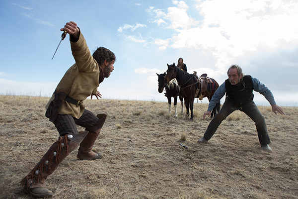 Tommy Lee Jones (right) in The Homesman