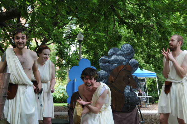 Theatre-Hikes' <i>The Iliad, the Odyssey, and All of Greek Mythology in 99 Minutes or Less</i>