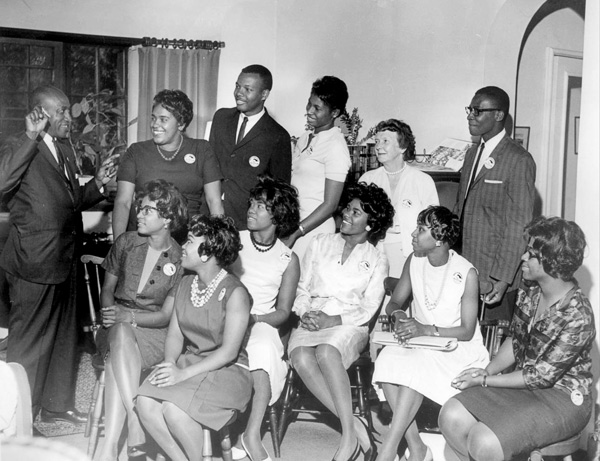 Timuel Black preps Hyde Park students going to the March on Washington, August 1963.