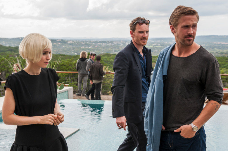Mara, Michael Fassbender, and Gosling in <i>Song to Song</i>