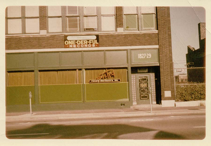 The same building in the 1960s, when it was home to One-derful and United Record Distributors