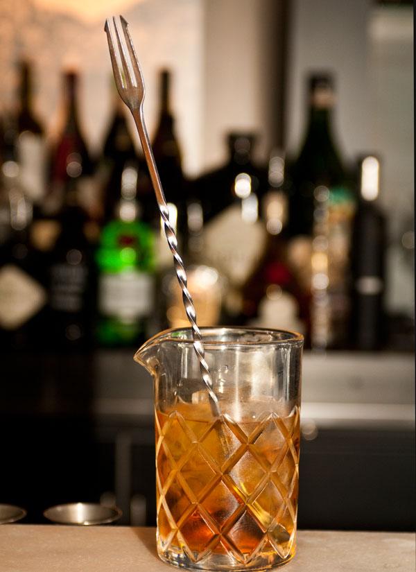 Defaced Barware's trident bar spoon
