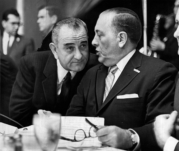 Mayor Richard J. Daley with President Lyndon Johnson. Daley blocked the incursion of federal antipoverty agencies whenever he could.