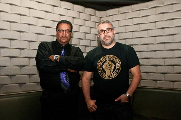 Chicago DJ Jerome Derradji (right), whose Still Music label released Kill Yourself Dancing, and Sunset Records cofounder Matt Warren