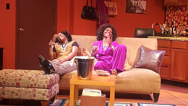 Alexis J. Rogers and Shanesia Davis in Congo Square Theatre's <i>What I Learned in Paris</i>