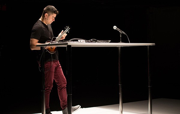 Brian Quijada in <i>Where Did We Sit on the Bus?</i>, at Victory Gardens