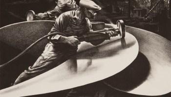 <i>Sanding the Propeller</i>, 1941, by Edward Arthur Wilson