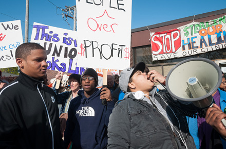 Activists protested the closing of the city's mental health clinic in Woodlawn last year, and they're vowing to continue the fight.