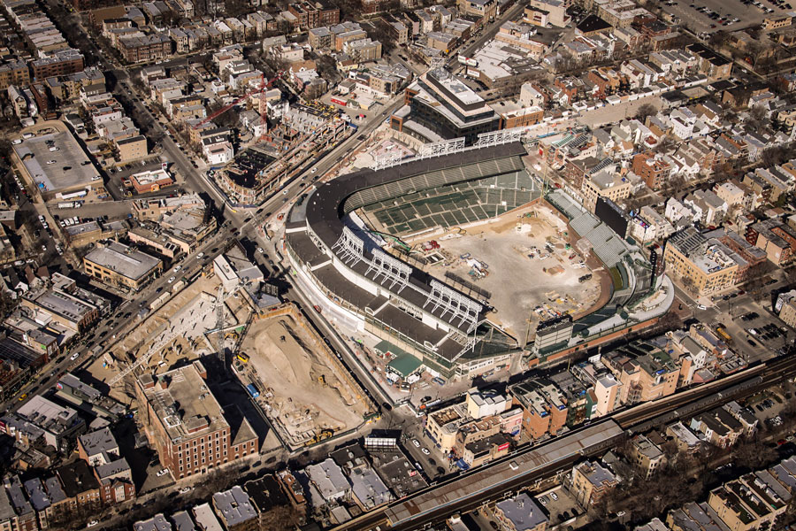 Renovations continued last month in and around Wrigley Field as part of the third phase of the 1060 Project.