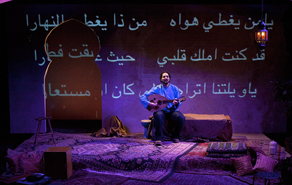 Ronnie Malley, who explores the world of  medieval poet-musician Ziryab at Silk Road Rising