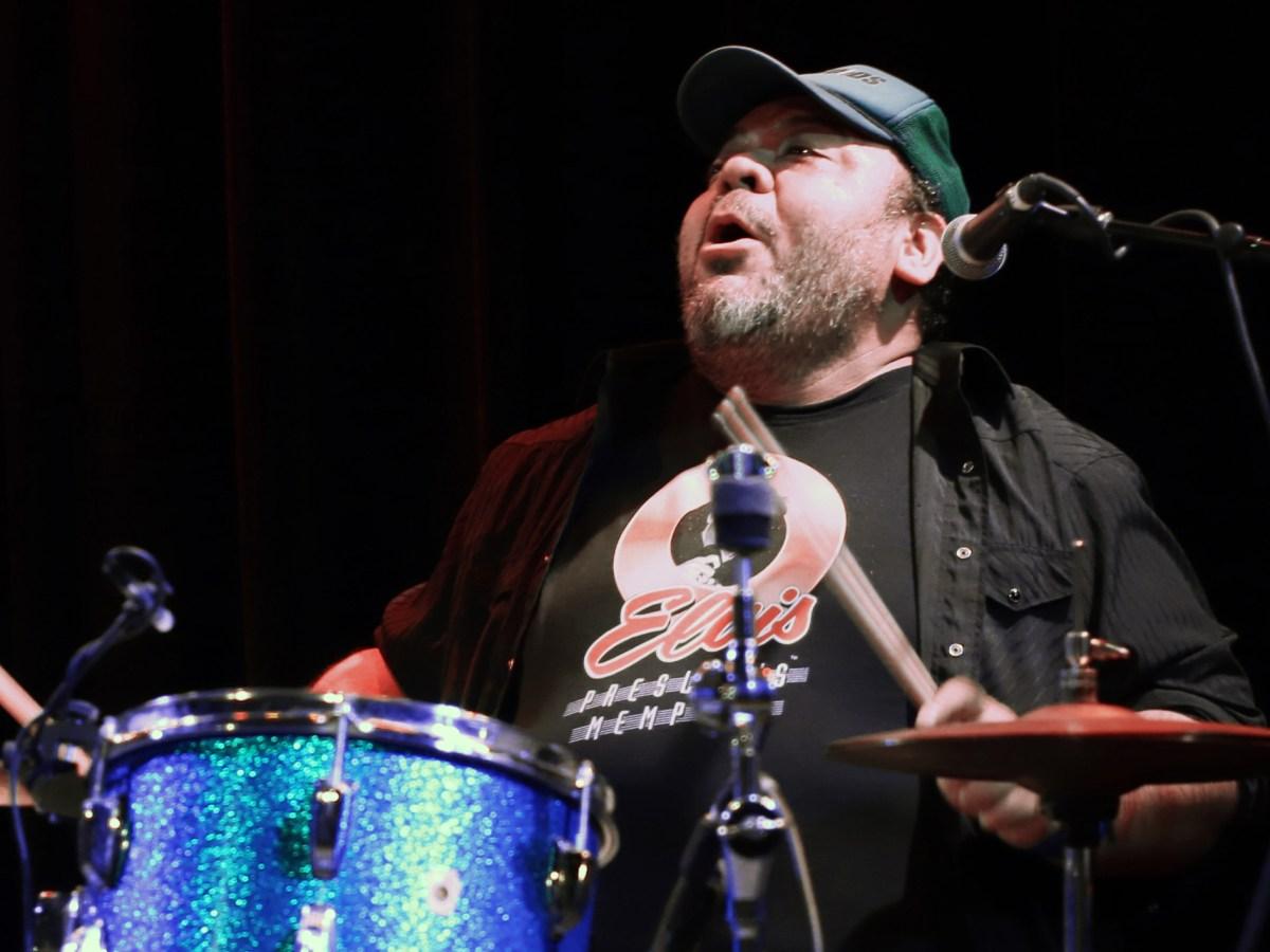 Drummer Joe Camarillo performing
