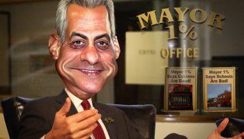 cariacture of Mayor Rahm Emanuel