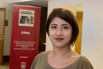 Unable to afford a four-year college without federal or state financial aid, Lisseth Perez is now in Arrupe College, a two-year program for low-income students that's part of Loyola University.