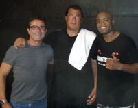 Anderson Silva with Steven Seagal